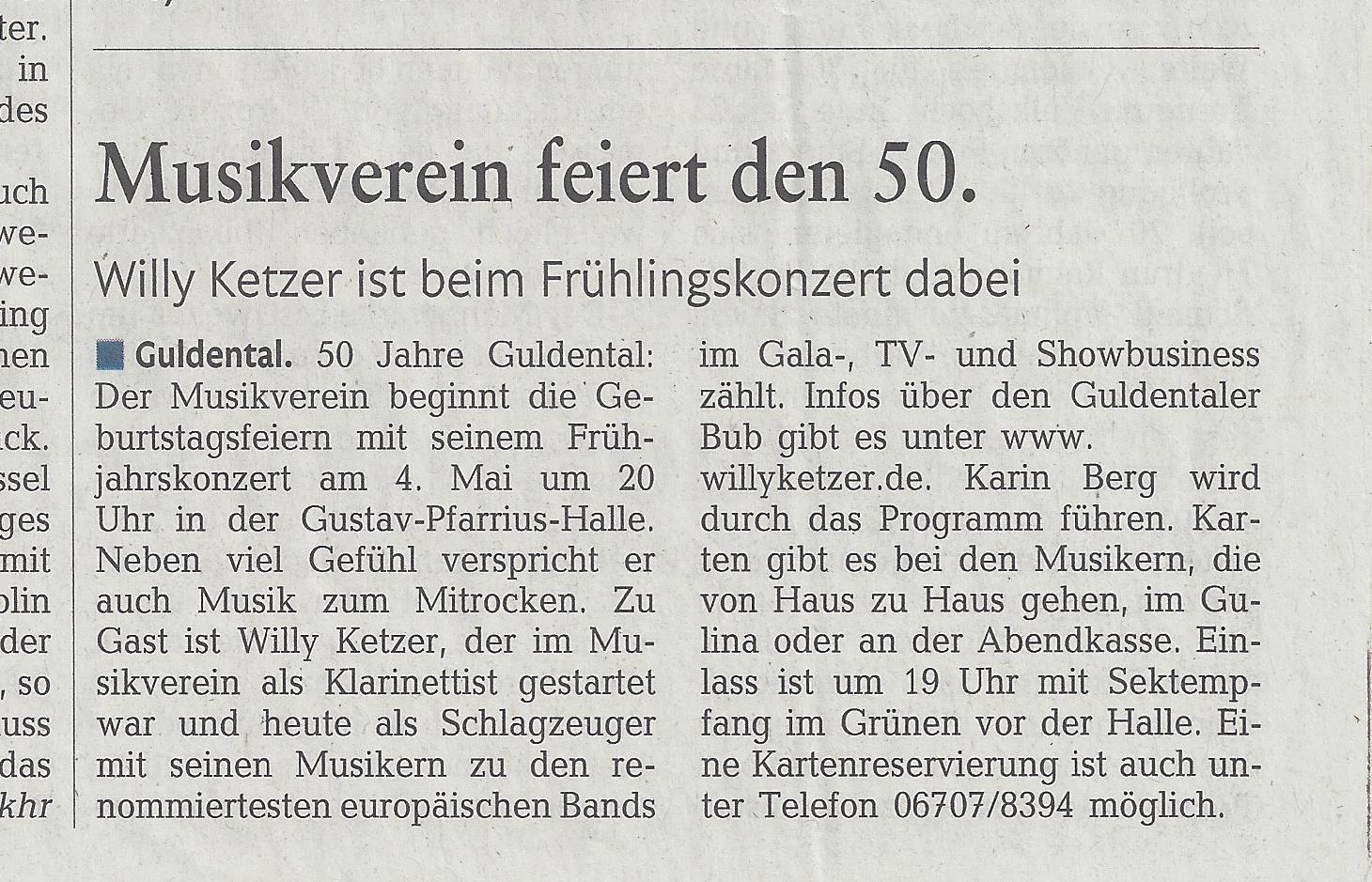 Musikverein feiert den 50.